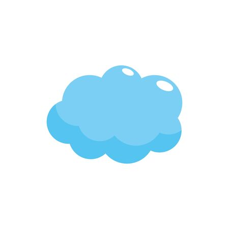 cute cloud weather design icon Illustration