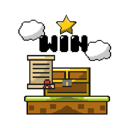 electronic videogame with graphic design character