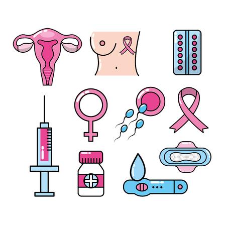 Définir les types de cancer et de traitement médical Banque d'images - 83107898