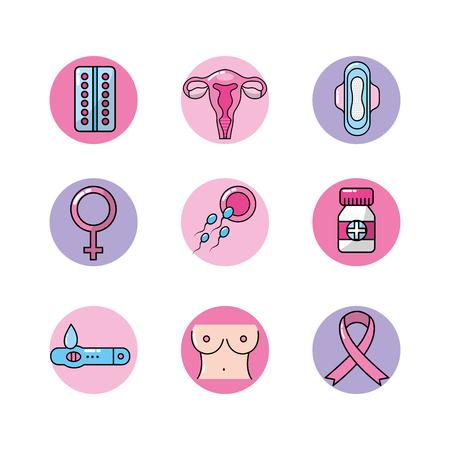 Définir les types de cancer et de traitement médical Banque d'images - 83107680