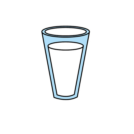 Fresh and delicious natural milk. Vector illustration.