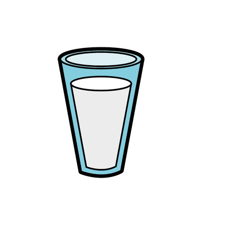 fesh and delicious natural milk vector illustration Illustration