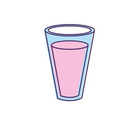 fresh and delicious natural yogurt vector illustration