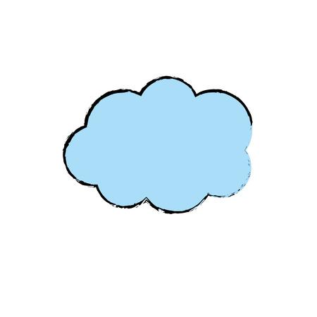 cute cloud weather design icon Illustration