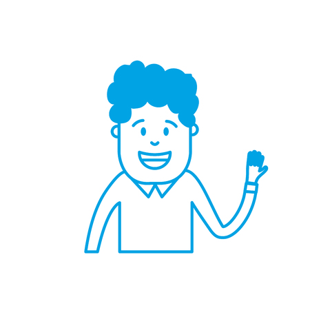 silhouette man with hairstyle design and clothes Illustration