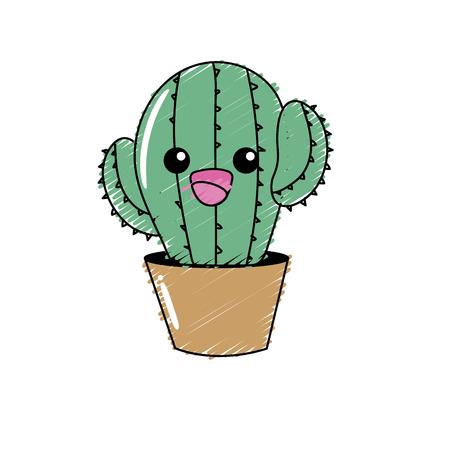 귀엽고 부드러운 선인장 식물