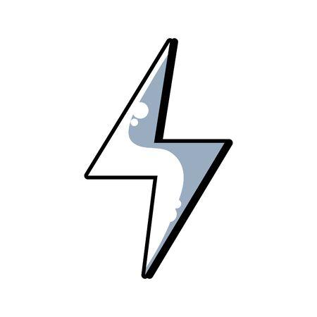 lijn energiegevaar symbool ontwerp afbeelding