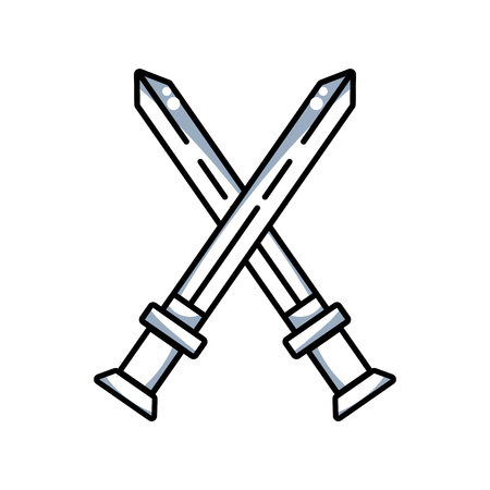 line videogame swords and medieval weapon