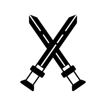 longsword: contour videogame swords and medieval weapon