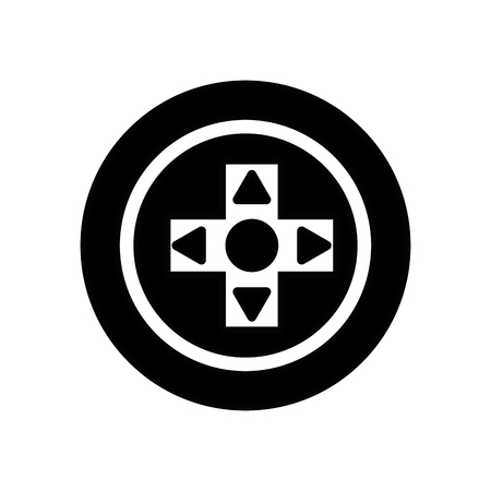 contour videogame symbol to play and videogame technology Vektorové ilustrace