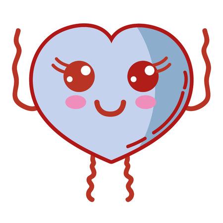 kawaii cute happy heart love Illustration