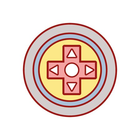 videogame symbol to play and videogame technology