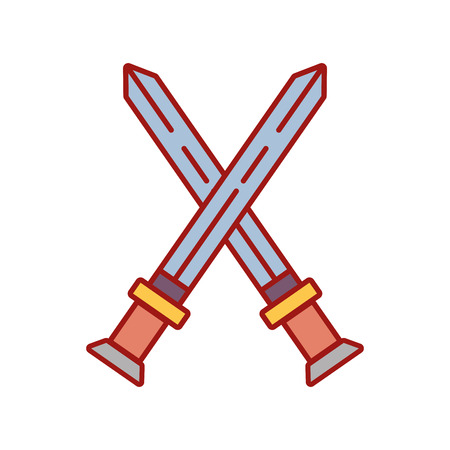 videogame swords and medieval weapon