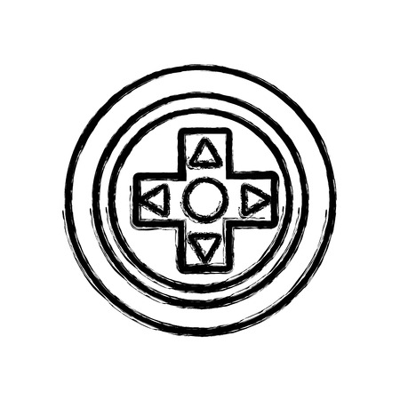 gamepad: figure videogame symbol to play and videogame technology Illustration