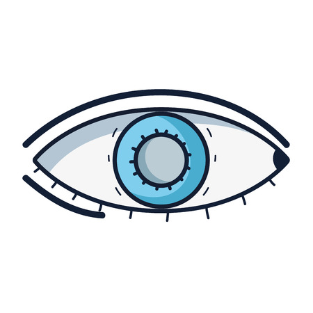A healthy eye vision and optical care icon concept illustration, isolated on white