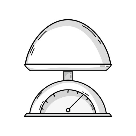 Outline drawing of baby weighing scale machine balance tool