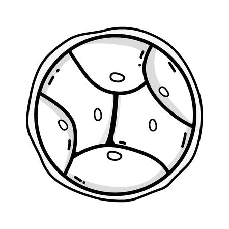 Outline design illustration of biology genetic embryo cells division Illustration