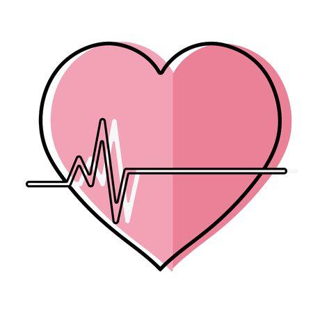 systole: A vector illustration of frequency vital cardiac rhythm heartbeat