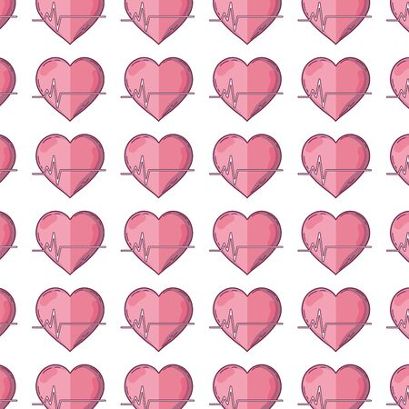systole: Pattern with a design of frequency vital cardiac rhythm heartbeat background Illustration