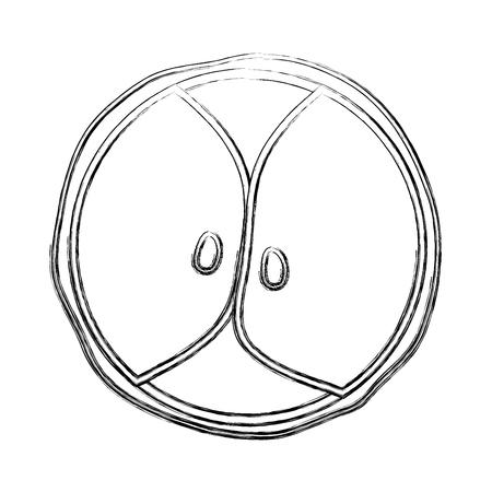 Outline figure of biology genetic embryo cells division Illustration