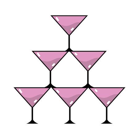 Crystal glass to celebrate special days Çizim