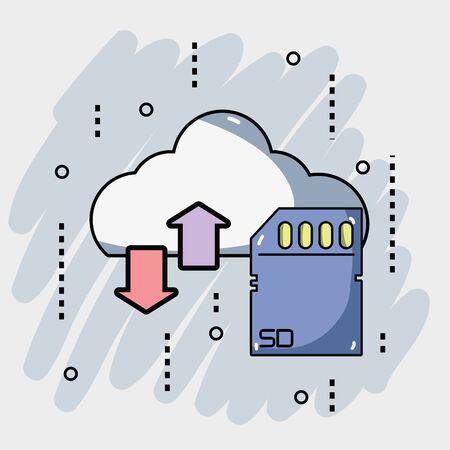 host: security data center connection server Illustration