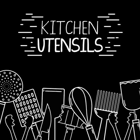 kitchen utensils background decoration design