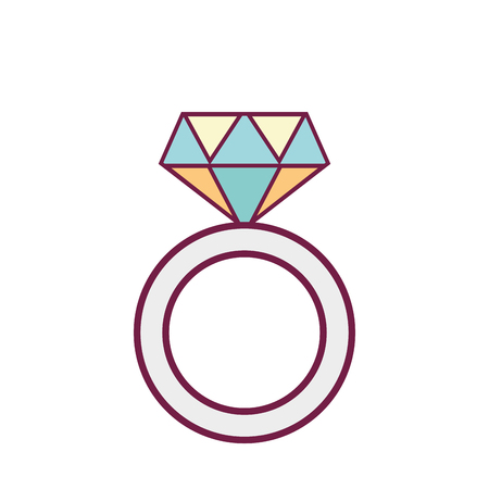 beauty wedding ring with diamond design Illustration