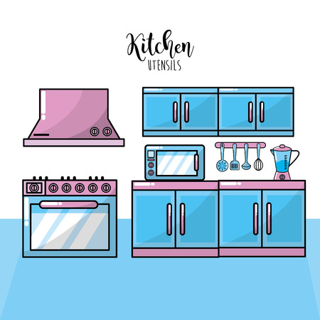 extractor: kitchen utensils traditional object element vector illustration