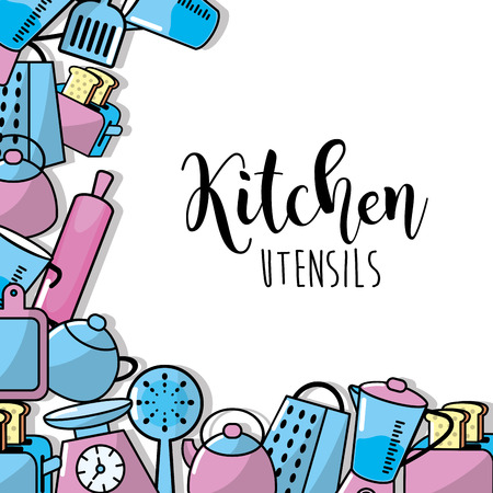 stainless: kitchen utensils elements culinary collection vector illustration Illustration