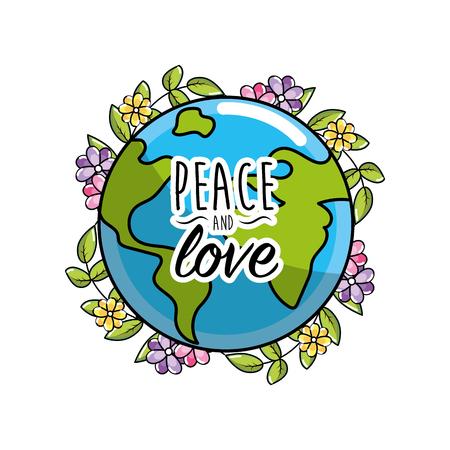 Global Peace Symbol To Spirit Harmony Vector Illustration Royalty