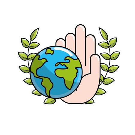 Global peace in worldwide to harmony spirit, vector illustration. Illustration