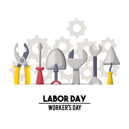 Profesional labor day national celebration vector illustration