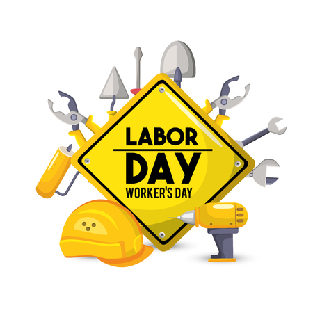 Labor day national celebration symbol vector illustration Illustration