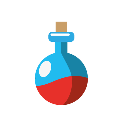 erlenmeyer flak with chemical potion experiment vector illustration Illustration