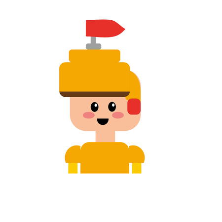 warrior character to video game technology play vector illustration Illustration