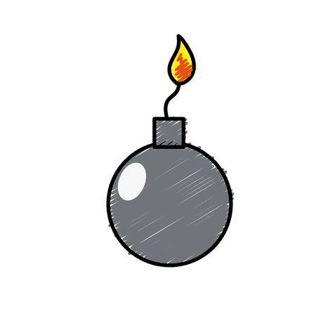 nuclear bomb explosion dangerous weapon vector illustration Illustration