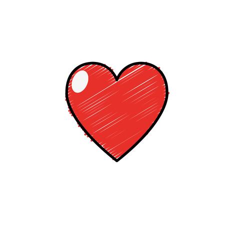 heart love and life symbol design vector illustration