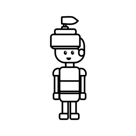 line warrior character to video game technology play