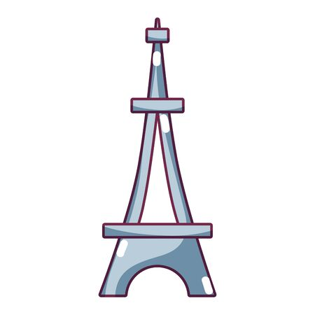 french culture: beauty eiffel tower architecture construction vector illustration