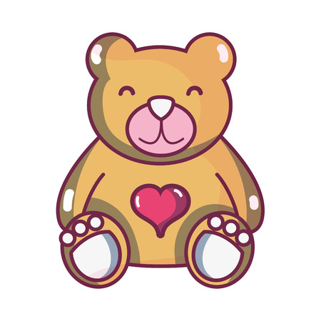 A nice teddy bear toy to game vector illustration.