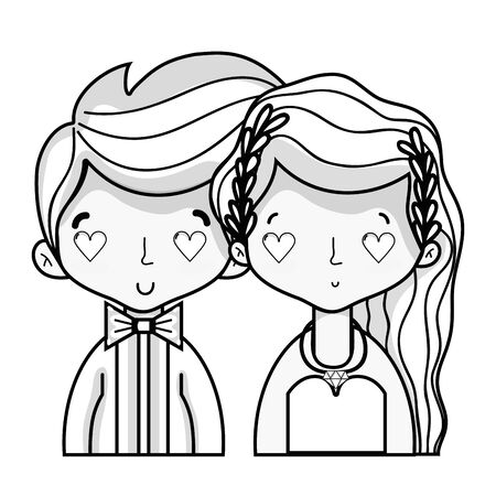 wedding couple: Beautiful married couple with hairstyle design