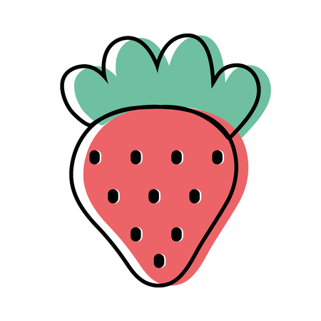 Delicious strawberry fruit with protein nutrition
