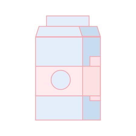 Milk box vector illustration