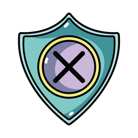 security shield to technology protection icon