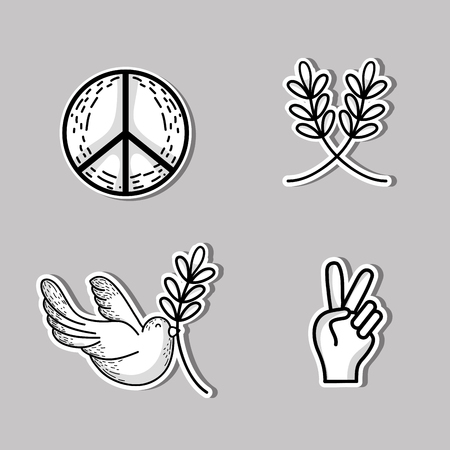 hopeful: set national peace and love day Illustration