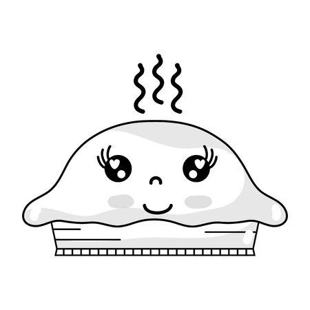 line kawaii cute happy sweet cake