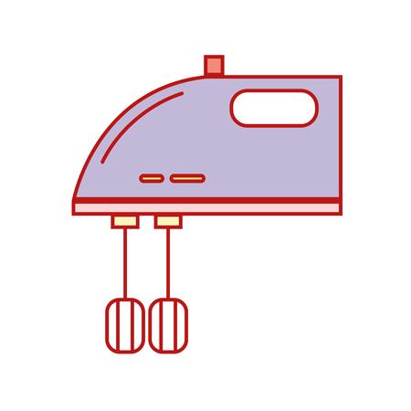 Technology mixer electric kitchen utensil vector illustration. Illustration