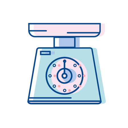 Scale weight machine kitchen utensil vector illustration. Illustration