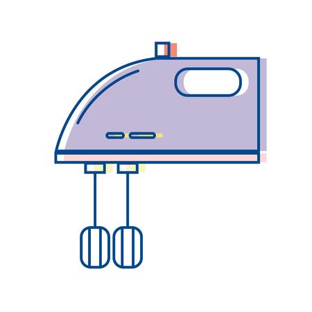 Technologie mixer elektrische keukengereedschap vector illustratie.